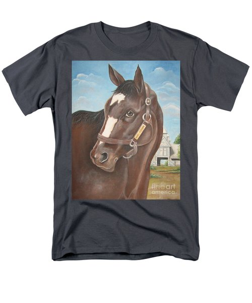 Rachel Alexandra At Stonestreet Farms Men's T-Shirt  (Regular Fit) by Patrice Torrillo