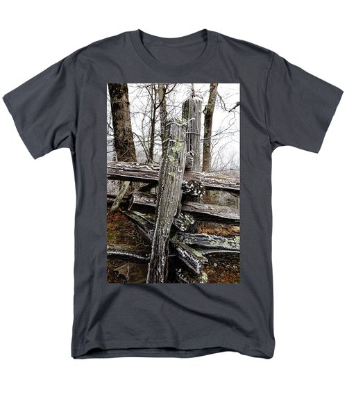 Rail Fence With Ice Men's T-Shirt  (Regular Fit) by Daniel Reed