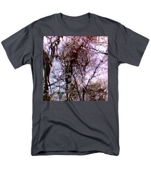 Men's T-Shirt  (Regular Fit) featuring the photograph Rainscape - Rain On The Window Series 1 Abstract Photo by Marianne Dow
