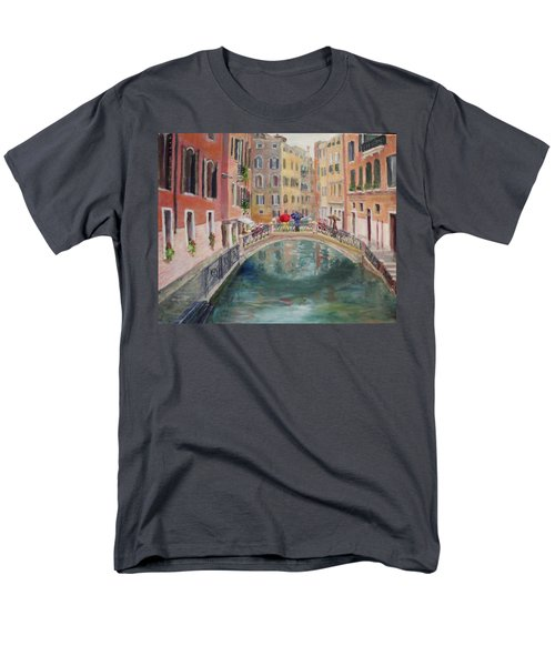 Rainy Day In Venice Men's T-Shirt  (Regular Fit) by Harriett Masterson