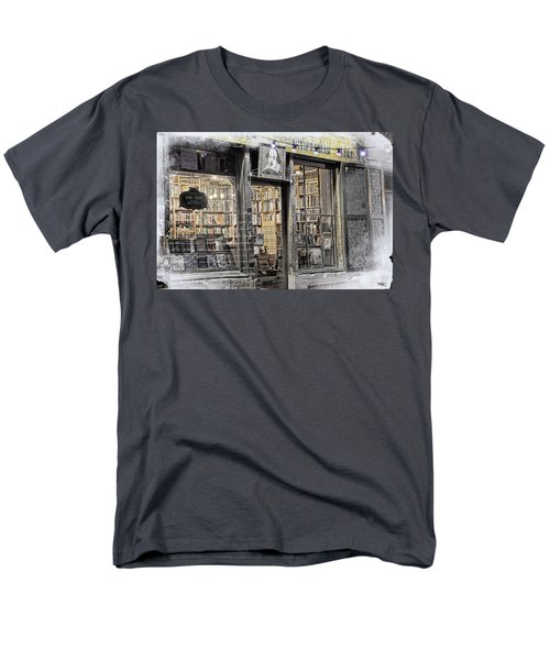 Rare Books Latin Quarter Paris France Men's T-Shirt  (Regular Fit) by Evie Carrier