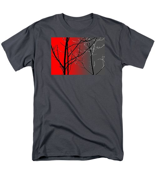 Red And Gray Men's T-Shirt  (Regular Fit)