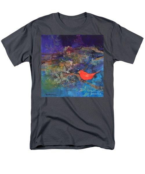 Red Bird Men's T-Shirt  (Regular Fit) by Robin Maria Pedrero