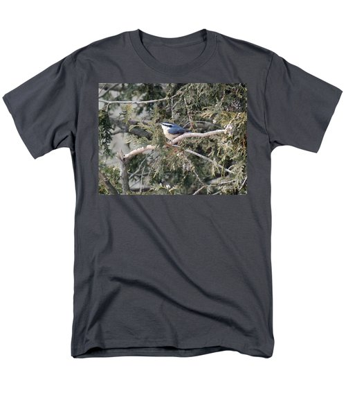 Men's T-Shirt  (Regular Fit) featuring the photograph Red Breasted Nuthatch by Brenda Brown