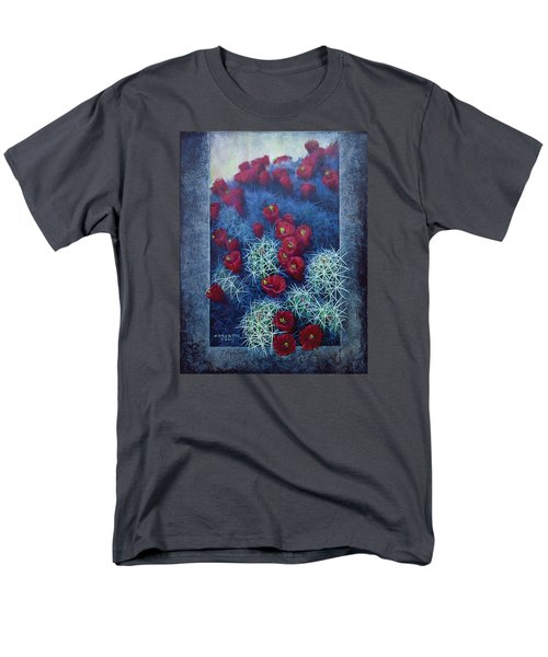 Men's T-Shirt  (Regular Fit) featuring the painting Red Cactus by Rob Corsetti