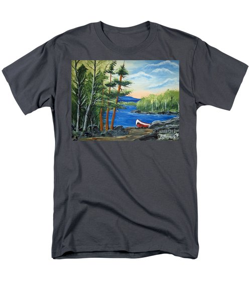 Red Canoe Men's T-Shirt  (Regular Fit) by Brenda Brown