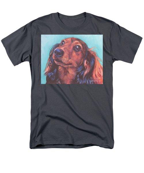 Red Doxie Men's T-Shirt  (Regular Fit) by Lee Ann Shepard