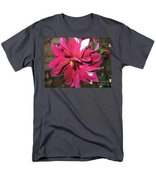 Red Flower In Bloom Men's T-Shirt  (Regular Fit) by HEVi FineArt