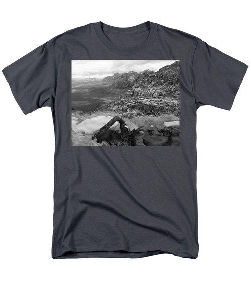 Men's T-Shirt  (Regular Fit) featuring the photograph Red Rock Winter by Alan Socolik
