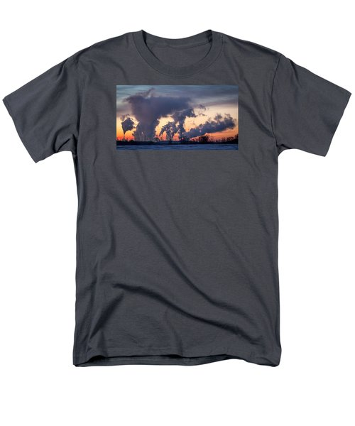 Men's T-Shirt  (Regular Fit) featuring the photograph Flint Hills Resources Pine Bend Refinery by Patti Deters