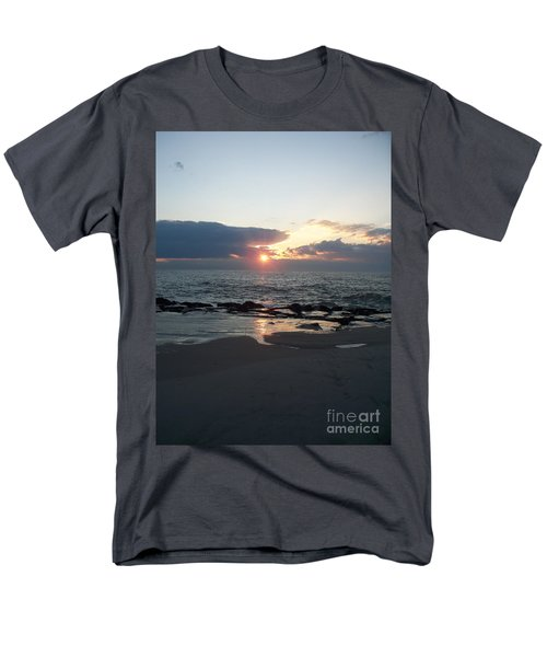 Reflections Cape May Point Men's T-Shirt  (Regular Fit) by Eric  Schiabor
