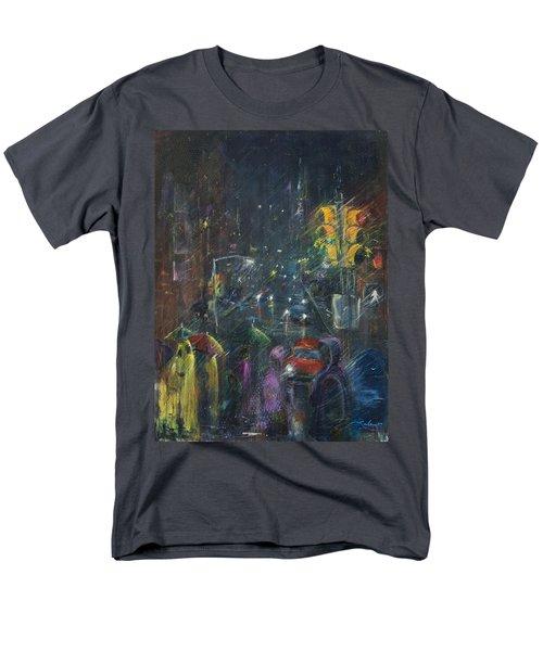 Reflections Of A Rainy Night Men's T-Shirt  (Regular Fit) by Leela Payne