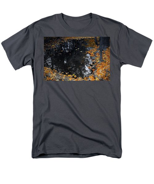 Men's T-Shirt  (Regular Fit) featuring the photograph Reflections Of Autumn by Photographic Arts And Design Studio