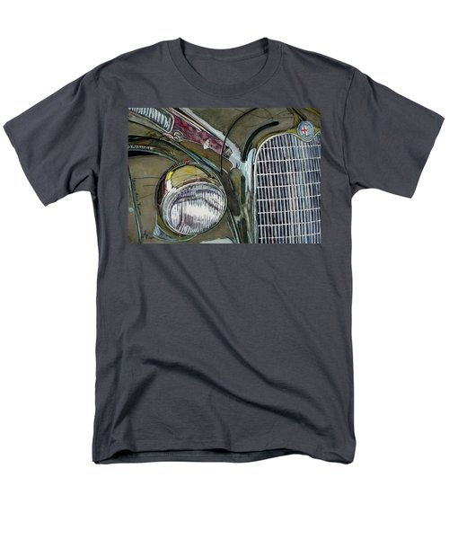 Men's T-Shirt  (Regular Fit) featuring the painting Reflections On 1931 Alfa Romeo Milano by Anna Ruzsan