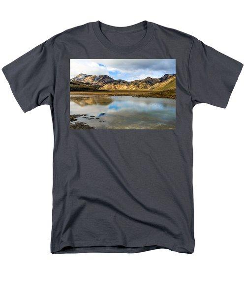 Men's T-Shirt  (Regular Fit) featuring the photograph Reflections On Landmannalaugar by Peta Thames