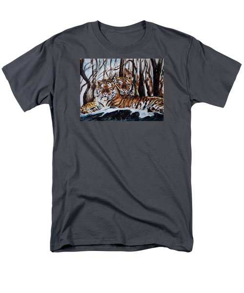 Men's T-Shirt  (Regular Fit) featuring the painting Resting by Harsh Malik