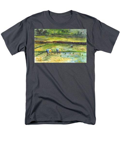 The Rice Paddy Field Men's T-Shirt  (Regular Fit) by Carol Wisniewski