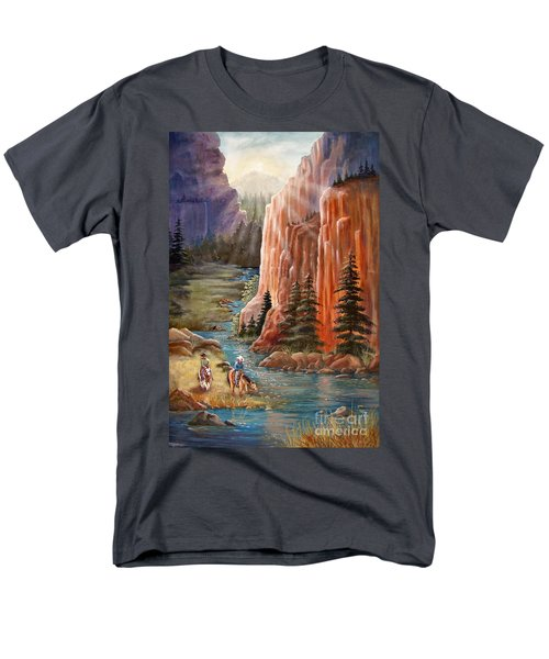Rim Canyon Ride Men's T-Shirt  (Regular Fit) by Marilyn Smith