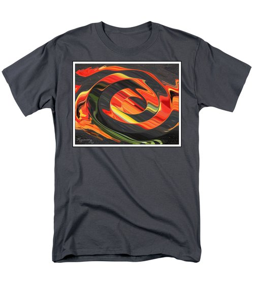Men's T-Shirt  (Regular Fit) featuring the digital art Ring Of Fire by Mariarosa Rockefeller