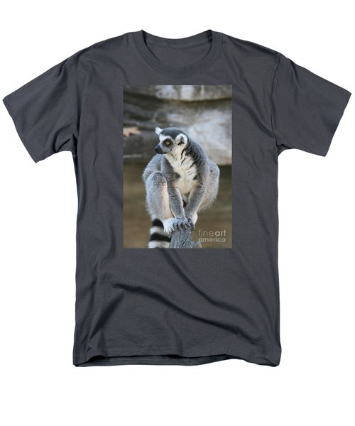 Men's T-Shirt  (Regular Fit) featuring the photograph Ring-tailed Lemur #3 by Judy Whitton