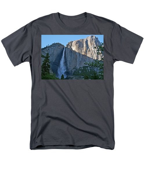 Rising Sun At Upper Yosemite Falls Men's T-Shirt  (Regular Fit) by Michele Myers