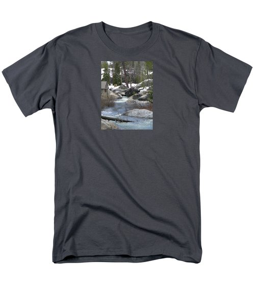 Men's T-Shirt  (Regular Fit) featuring the photograph River Cabin by Bobbee Rickard
