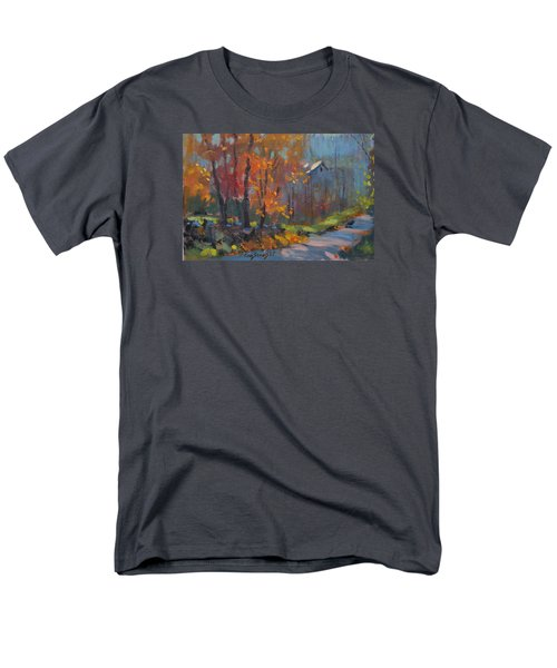 Men's T-Shirt  (Regular Fit) featuring the painting Road South by Len Stomski