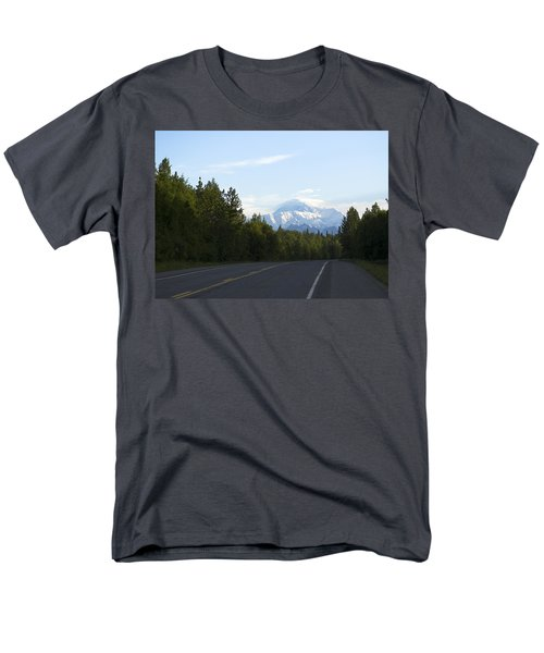 Road To Denali  Men's T-Shirt  (Regular Fit) by Tara Lynn