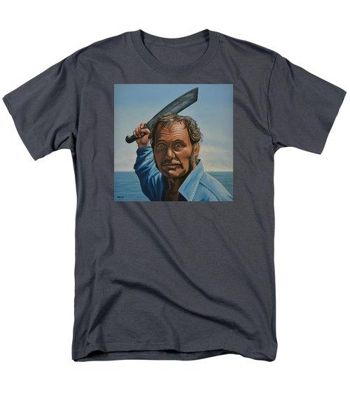 Robert Shaw In Jaws Men's T-Shirt  (Regular Fit) by Paul Meijering
