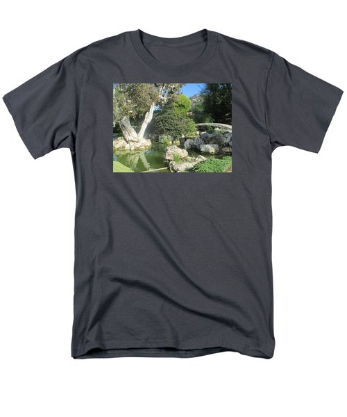Stone Bridge Pond Men's T-Shirt  (Regular Fit) by Vivien Rhyan