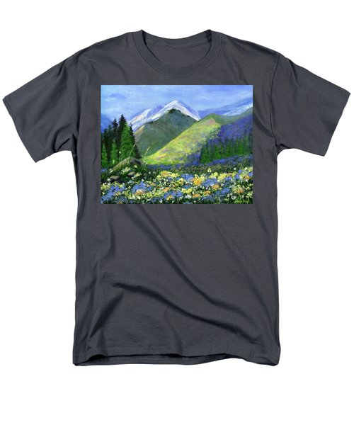 Rocky Mountain Spring Men's T-Shirt  (Regular Fit) by Jamie Frier