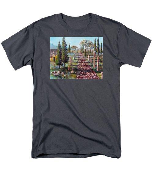 Roman Road Men's T-Shirt  (Regular Fit) by Lou Ann Bagnall
