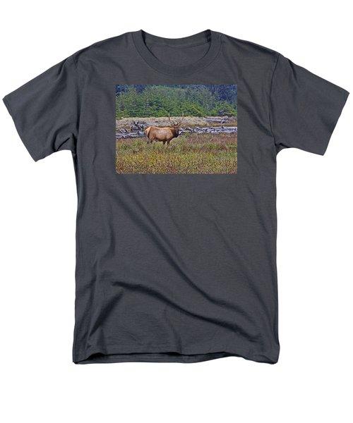 Roosevelt Elk Men's T-Shirt  (Regular Fit) by Mark Alder