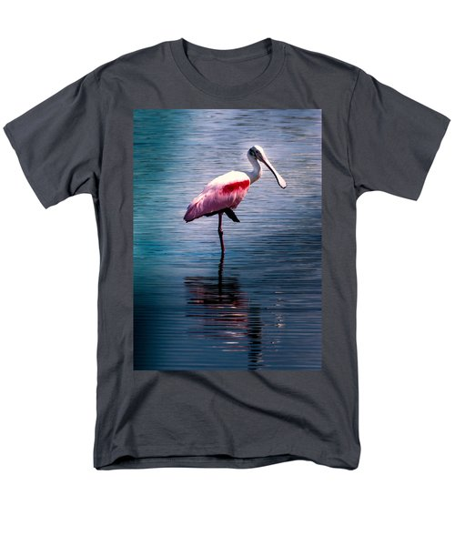 Roseate Spoonbill Men's T-Shirt  (Regular Fit) by Karen Wiles