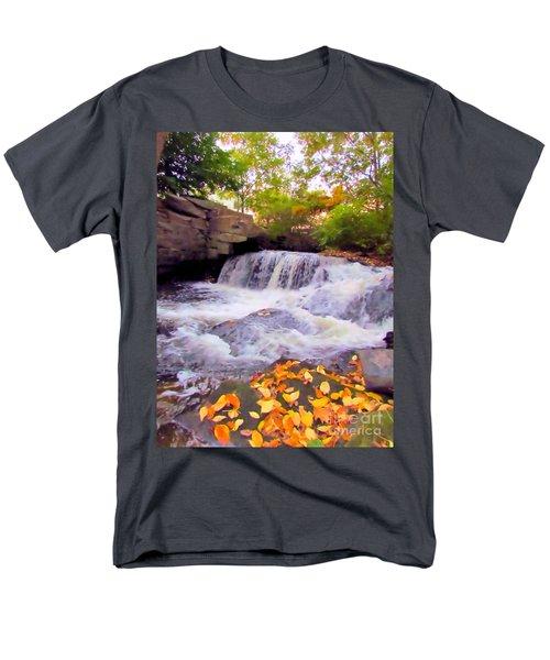 Royal River White Waterfall Men's T-Shirt  (Regular Fit) by Elizabeth Dow