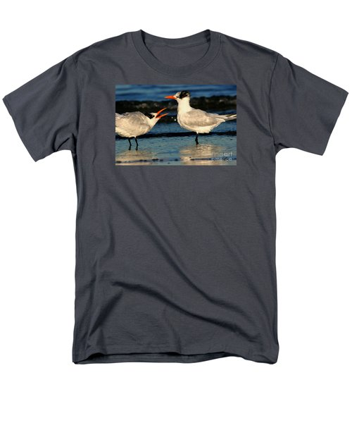 Men's T-Shirt  (Regular Fit) featuring the photograph Royal Tern Courtship Dance by John F Tsumas