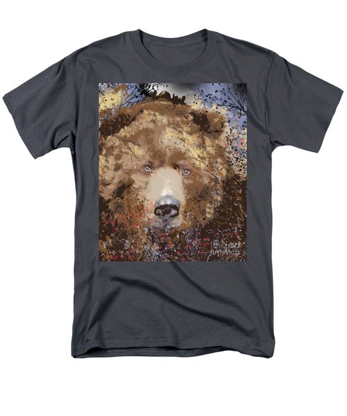 Men's T-Shirt  (Regular Fit) featuring the digital art Sad Brown Bear by Kim Prowse
