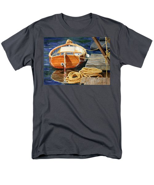 Men's T-Shirt  (Regular Fit) featuring the painting Safe Mooring by Roger Rockefeller