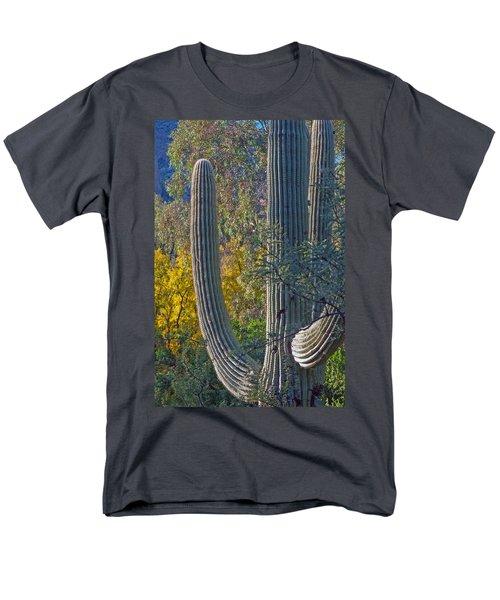 Saguaro Fall Color Men's T-Shirt  (Regular Fit) by Tam Ryan