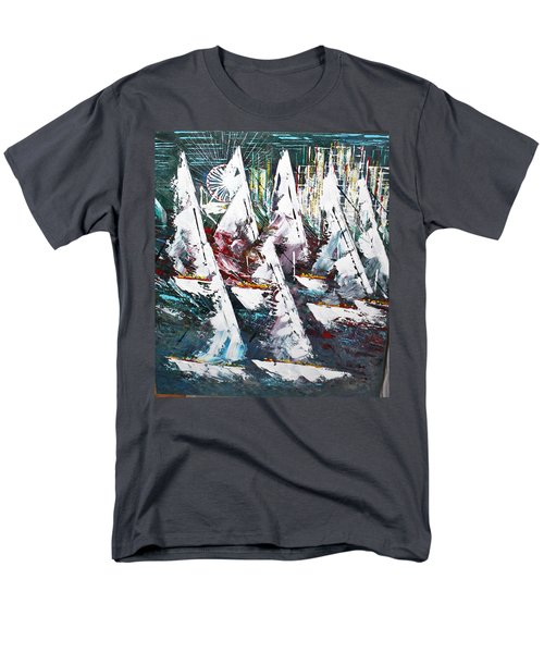 Sailing With Friends - Sold Men's T-Shirt  (Regular Fit) by George Riney