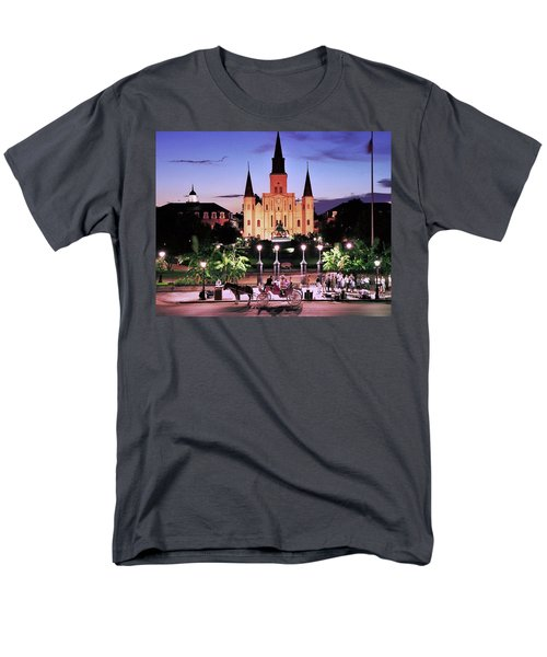 Saint Louis Cathedral New Orleans Men's T-Shirt  (Regular Fit) by Allen Beatty
