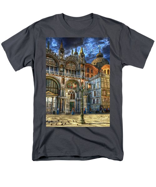 Saint Marks Square Men's T-Shirt  (Regular Fit) by Jerry Fornarotto