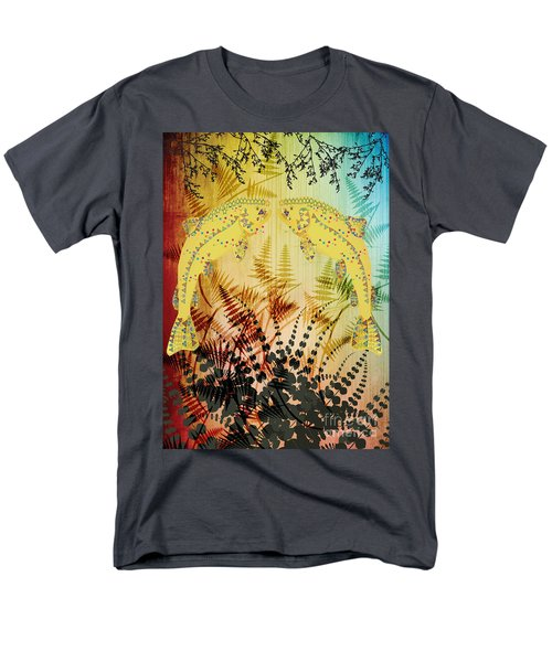 Men's T-Shirt  (Regular Fit) featuring the digital art Salmon Love Gold by Kim Prowse