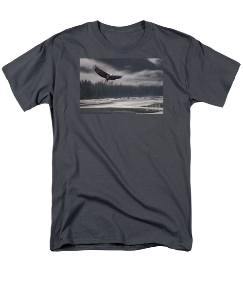Men's T-Shirt  (Regular Fit) featuring the photograph Salmon River Mist by Stanza Widen