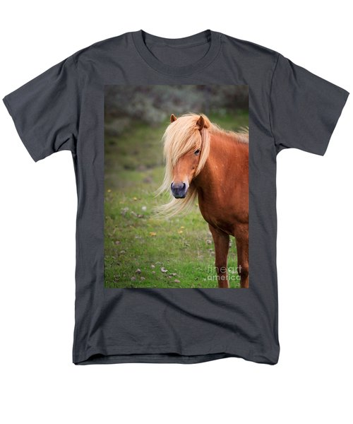 Men's T-Shirt  (Regular Fit) featuring the photograph Salon Perfect Pony by Peta Thames