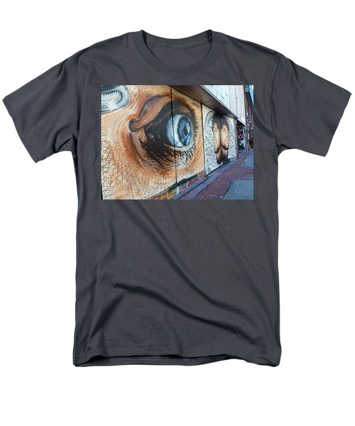 Men's T-Shirt  (Regular Fit) featuring the photograph Salt Lake City - Mural 1 by Ely Arsha