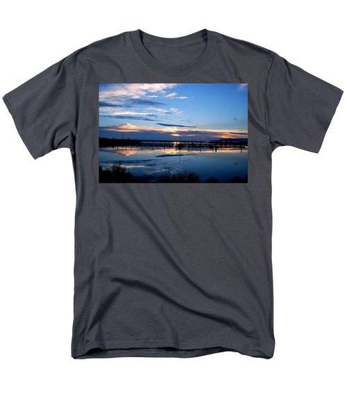 Salt Lake Marina Sunset Men's T-Shirt  (Regular Fit) by Matt Harang