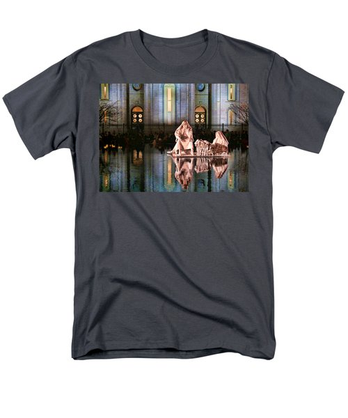 Men's T-Shirt  (Regular Fit) featuring the photograph Salt Lake Temple - 2 by Ely Arsha