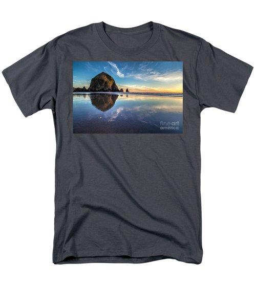 Sand Dollar Sunset Repose Men's T-Shirt  (Regular Fit) by Mike Reid