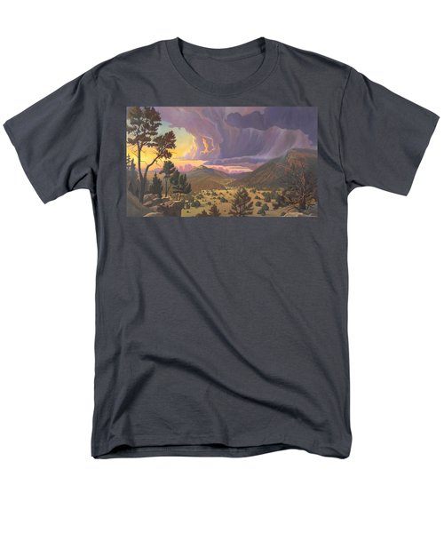 Men's T-Shirt  (Regular Fit) featuring the painting Santa Fe Baldy by Art James West